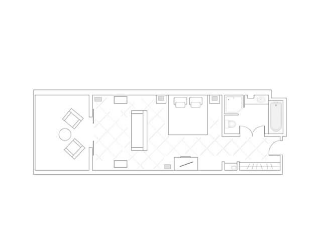 Deluxe Sea Facing Room Layout