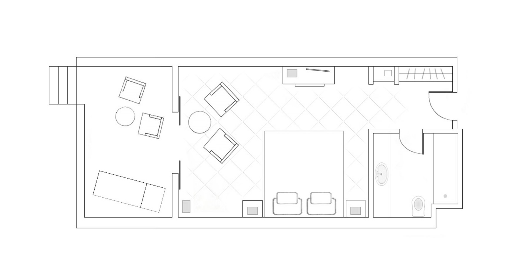 Terrace Sea View Room Layout